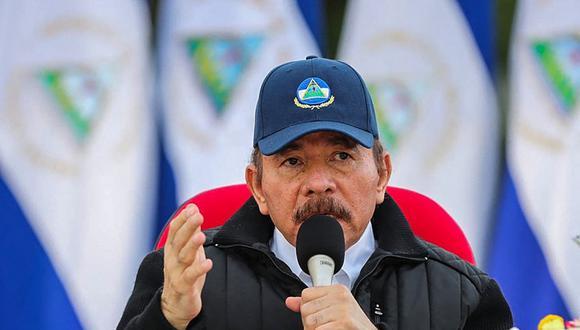Daniel Ortega durante el 41 aniversario de la Revolución Sandinista, realizado sin acto público debido a la pandemia de COVID-19, en Managua, Nicaragua. (Foto: Cesar PEREZ / PRESIDENCIA NICARAGUA / AFP)