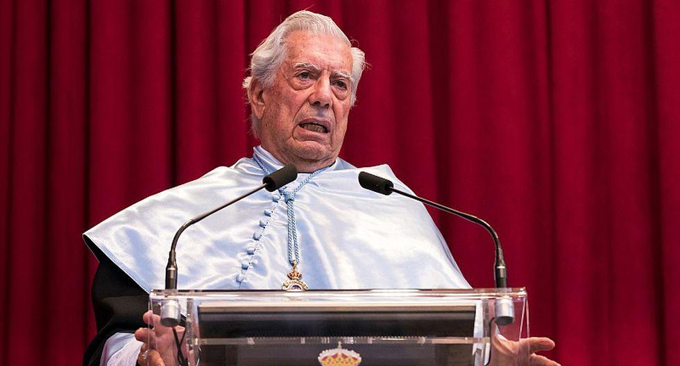 Vargas Llosa fue investido doctor Honoris Causa por la Universidad de Burgos. (AFP)