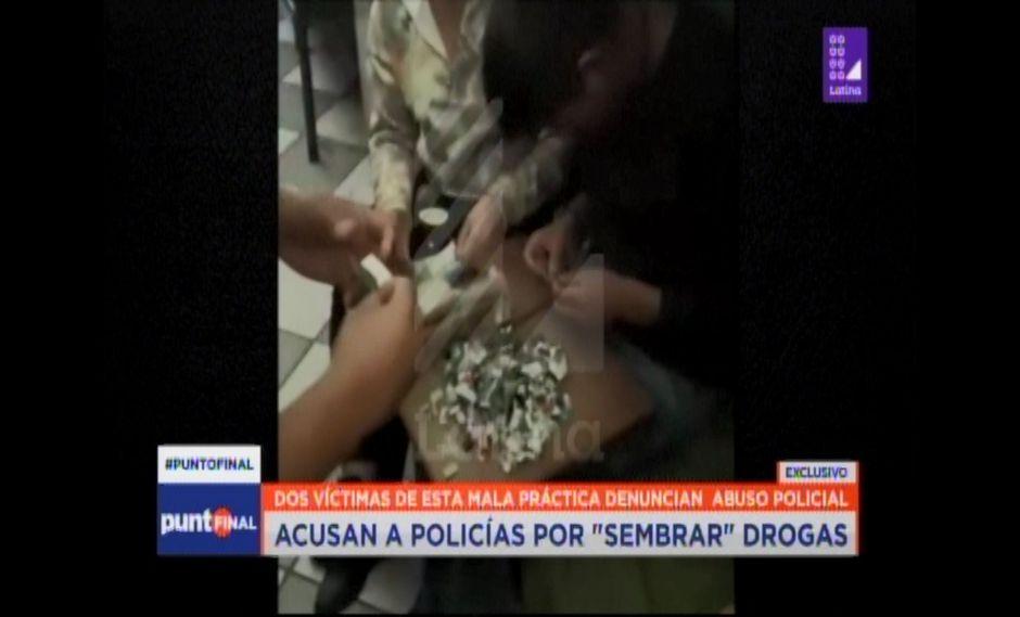 En principio, Punto Final denunció el 'sembrado' de droga por parte del Grupo Terna. (Captura: Latina)