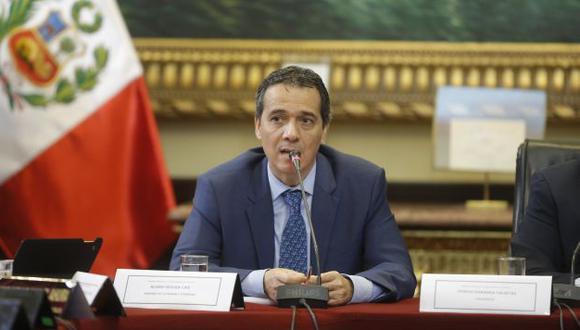 Ministro Alonso Segura se mostró optimista. (Atoq Ramón)