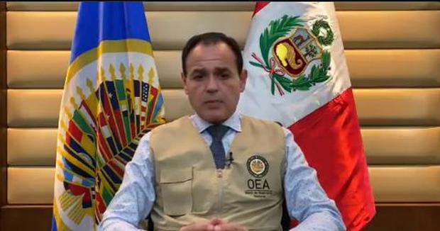 Rubén Ramírez , jefe de la Misión electoral de la OEA en Perú.