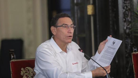 El presidente Martín Vizcarra recibió un oficio de la Comisión de Fiscalización a fin de que sea interrogado. (Foto referencial: Presidencia)
