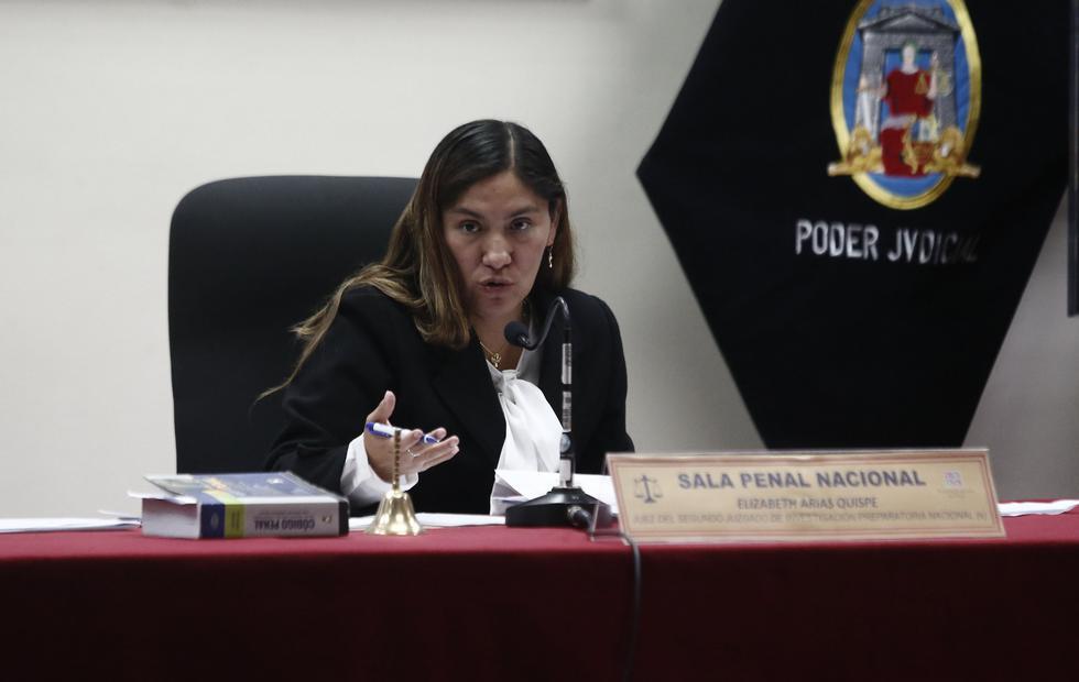 Elizabeth Arias Quispe es jueza del Tercer Juzgado de Investigación Preparatoria. (GEC)