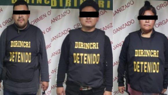 La policía informó que estos sospechosos registran antecedentes. (PNP)