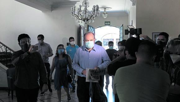 ¿Qué pasó? Alterado, López Aliaga arremetió públicamente contra autoridades y candidatos. (Foto: Renzo Salazar/GEC)