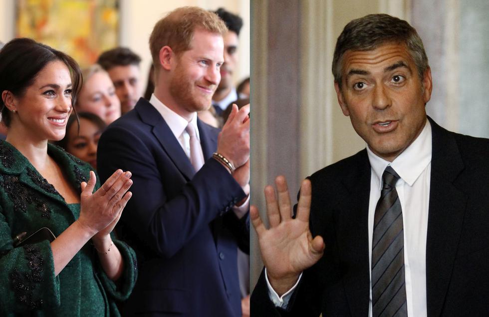 George Clooney rechaza ser el padrino del hijo del príncipe Harry y Meghan Markle. (Créditos: AFP/REUTERS)