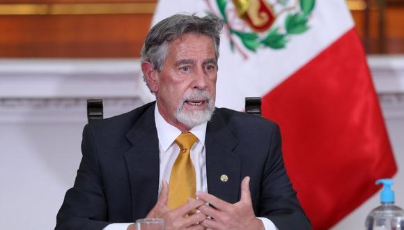 El presidente Francisco Sagasti cuestionó que se exonere de comisiones algunos proyectos orientados a modificar la Constitución. (Foto: Presidencia)