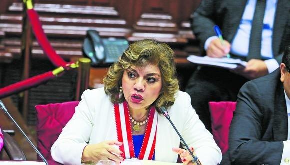 La fiscal de la Nación, Zoraida Ávalos no participará en sesión a la que fue convocada por la Comisión de Justicia (GEC).