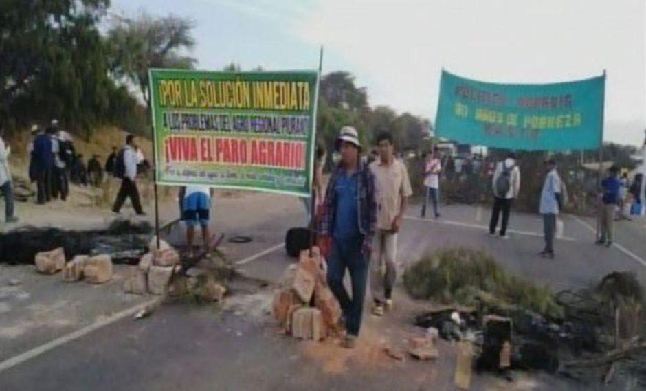 Continúa el paro agrario en varios puntos del país. (Foto: Captura/RPP Noticias)