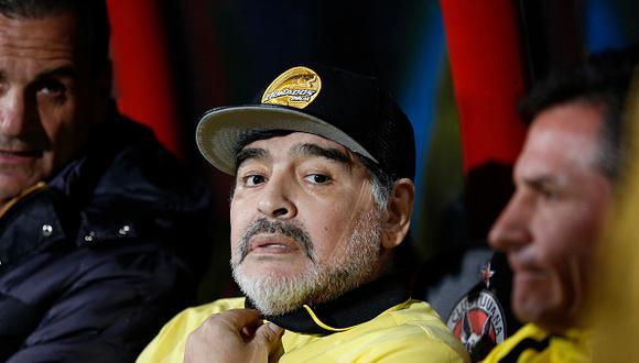 Diego Maradona sabe que Dorados debe salir a buscar el partido en campo de San Luis para lograr el título de la Liga de Ascenso en México. (Foto: Getty)