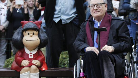 """Joaquín Salvador Lavado saltó a la fama gracias a """"Mafalda"""", las vivencias de una pequeña niña que dio la vuelta al mundo. (Foto: Miguel Riopa / AFP)"""
