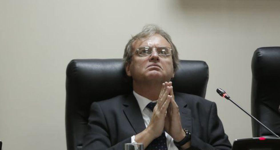 """Ministro Basombrío asegura que no se sentarán a negociar """"con el extremismo"""". (Piko Tamashiro)"""