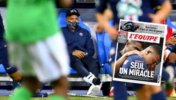 L'Equipe asegura que Kylian Mbappé no llegaría a duelo de PSG en Champions League.