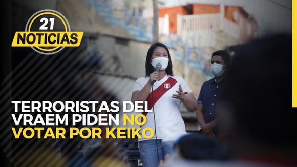 Terroristas del Vraem piden no votar por Keiko