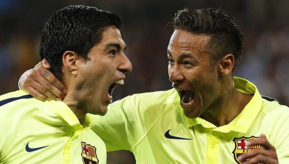 Neymar felicitó a Luis Suárez por el título de LaLiga con Atlético de Madrid. (Foto: EFE)