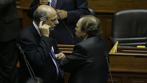 Abugattás y Lerner, cuando este último era jefe del gabinete. (USI)