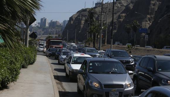 Costa Verde estará cerrada por 80 días y el colapso del tráfico se trasladó a Barranco. (Mario Zapata)