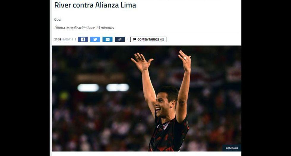 La reacción de los medios internacionales tras el empate entre Alianza Lima y River Plate. (Goal)