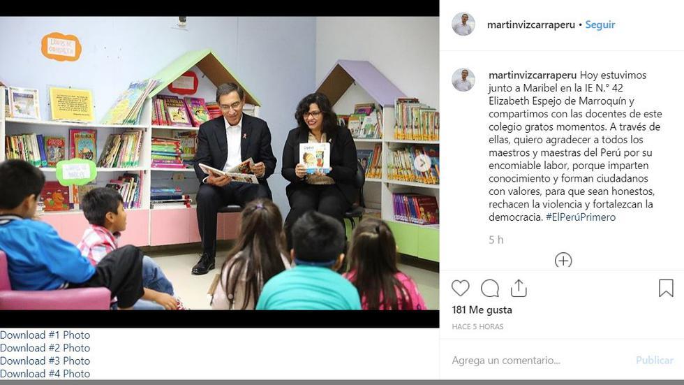 Martín Vizcarra abrió su cuenta oficial de Instagram con tiernas imágenes. (Instagram)
