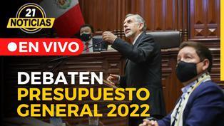 Pleno debate Presupuesto General de la República 2022