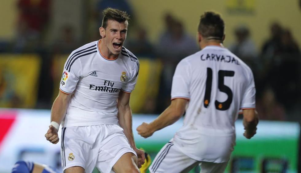 El galés marcó su primer gol con la camiseta del Real Madrid. (AFP)
