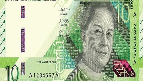 El billete con la imagen de Chabuca rinde homenaje a personajes importantes de las ciencias, artes y letras en nuestro país. (Foto: BCR)