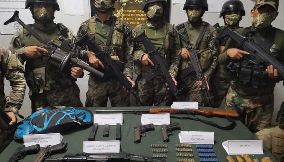 Vraem: Fuerzas del orden se enfrentan a presuntos terroristas e incautan armas de guerra (Foto: Comando Conjunto de las Fuerzas Armadas)