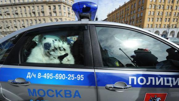 La Policía detuvo a algunos de los 'osos polares'. (AFP)