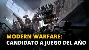Modern Warfare: Candidato a juego del año [VIDEO]