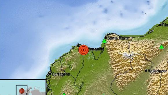 """""""Reportamos evento sísmico a las 20.48 hora local. Magnitud 4,3"""", indicó el Servicio Geológico Colombiano en su cuenta de Twitter."""
