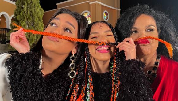 Daniela Darcourt se unió a Eva Ayllón y Renata Flores para cantarle al Perú. (Foto: @danieladarcourt)