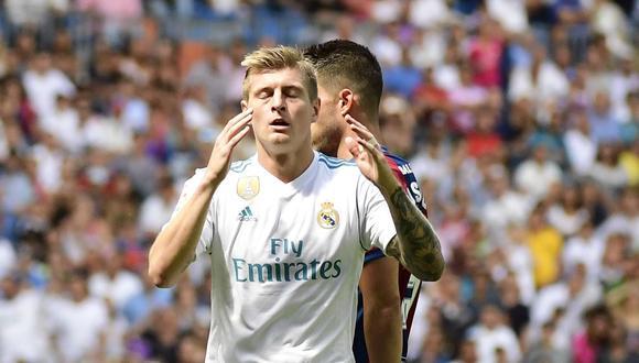 Real Madrid y Levante suman cinco puntos en la clasificación del certamen español. (AFP)