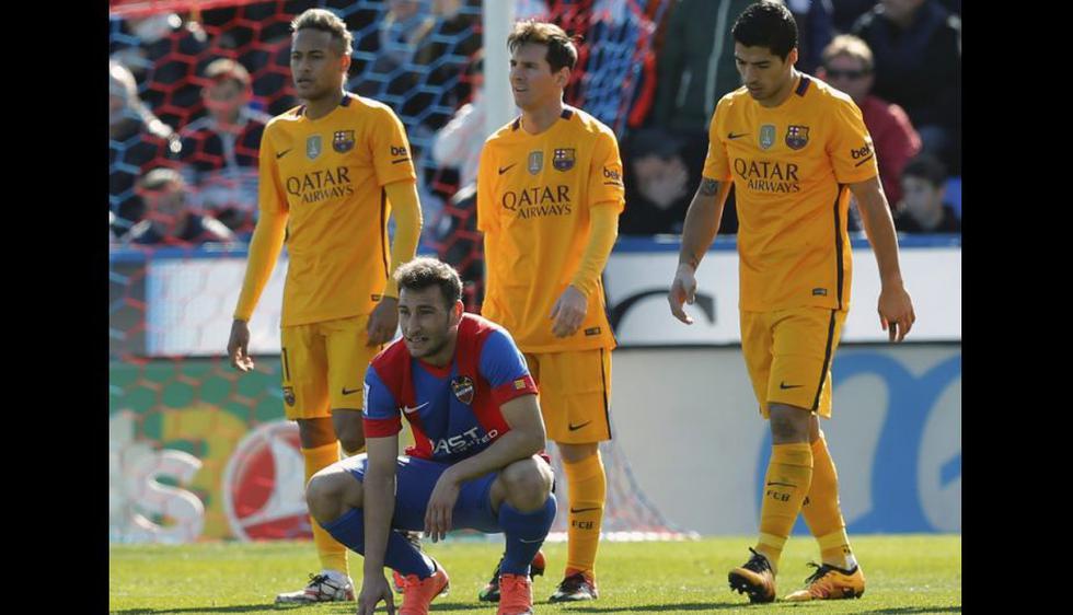 Barcelona derrotó al Levante en un partido 'gris'. (AFP)