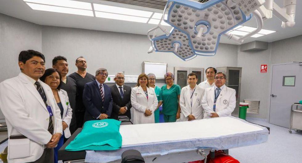 La ministra de Salud, Zulema Tomás Gonzáles, afirmó que la sala quirúrgica operará al mes a un promedio de ocho personas con TB. (Minsa)