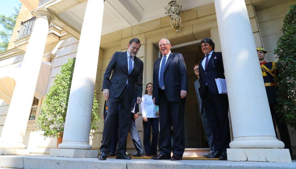 El presidente Kuczynski es recibido por su homólogo español, Mariano Rajoy (Presidencia)
