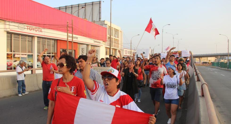 Marcha contra el fiscal de la Nación