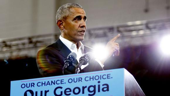El ex presidente de Estados Unidos, Barack Obama, durante una visita aAtlanta para apoyar a la candidata demócrata de Georgia,Stacey Abrams. (Foto: EFE)