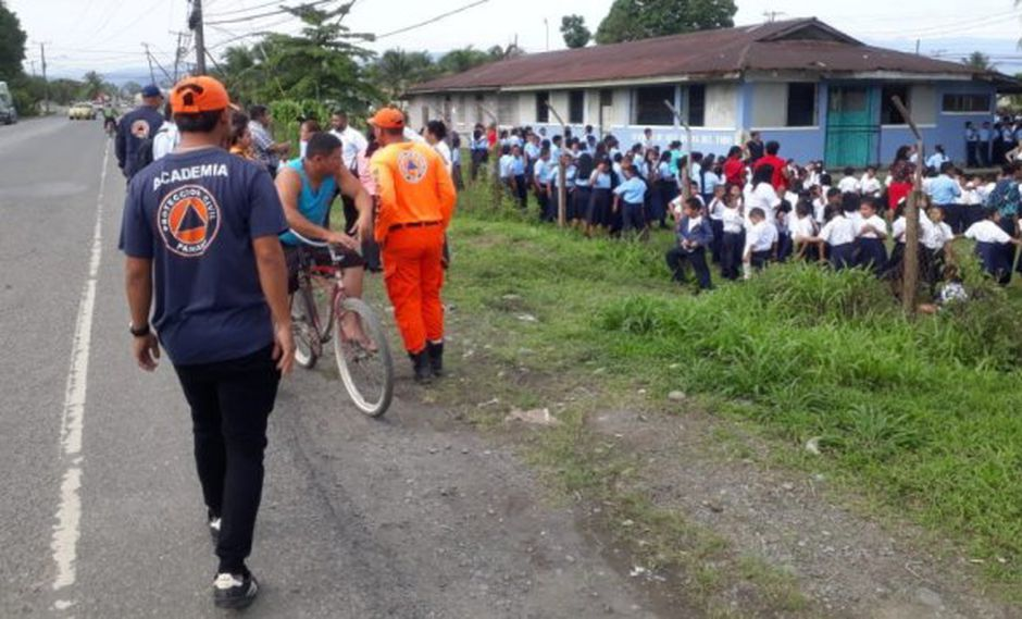 El Sistema Nacional de Protección Civil informó que está recorriendo calles y escuelas de Bocas del Toro para determinar si el sismo causó alguna afectación. (Foto: Twitter)