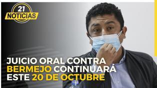 Juicio oral contra el congresista Guillermo Bermejo continuará este miércoles 20 de octubre