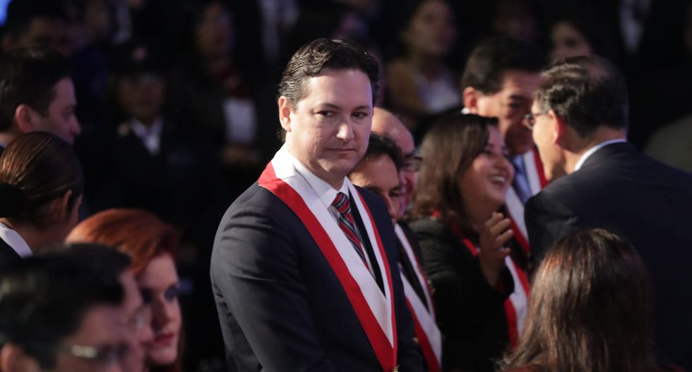 Es la primera vez que Daniel Salaverry, como presidente del Congreso, se pronuncia sobre la 'Ley Mordaza'. (Perú21)
