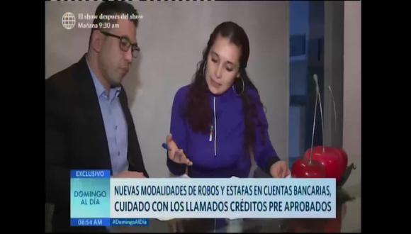 Tres personas denunciaron la misma modalidad de robo bancario. (América Tv)