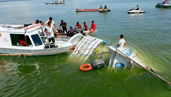Naufragio se produjo en la Bahía de Todos los Santos. (Efe)