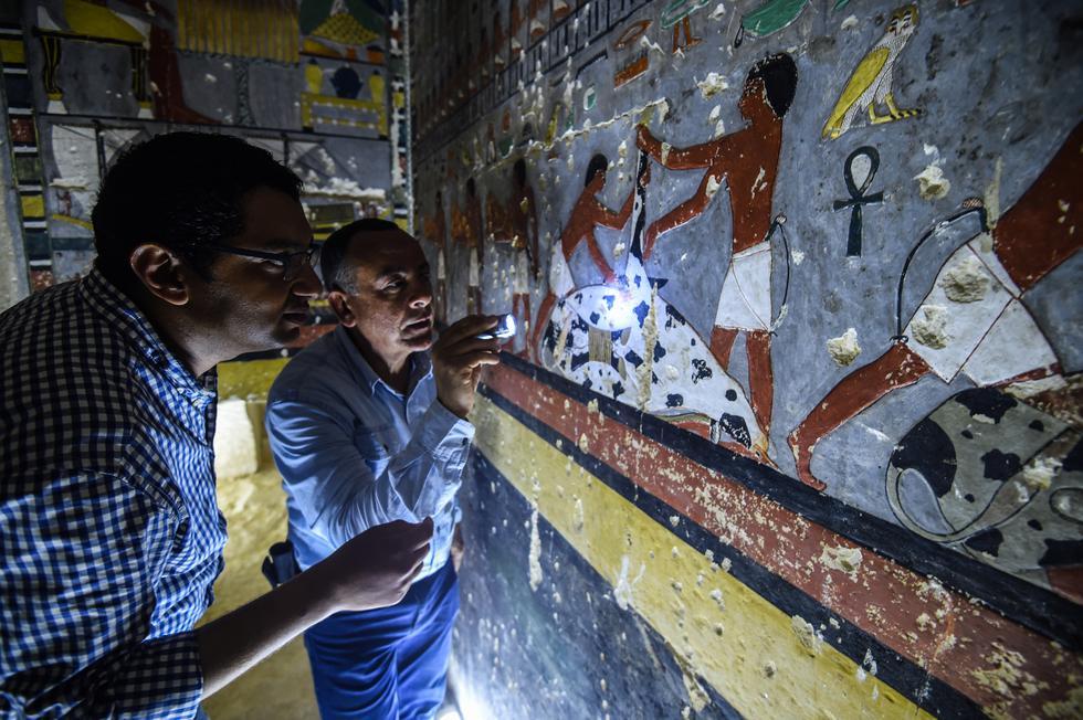 Egipto: Develan sorprendente tumba de 4.300 años de antigüedad. (AFP)