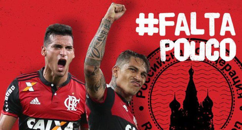 Flamengo felicitó a Paolo Guerrero y a Miguel Trauco tras pase de Perú a Repechaje (Twitter/Flamengo)