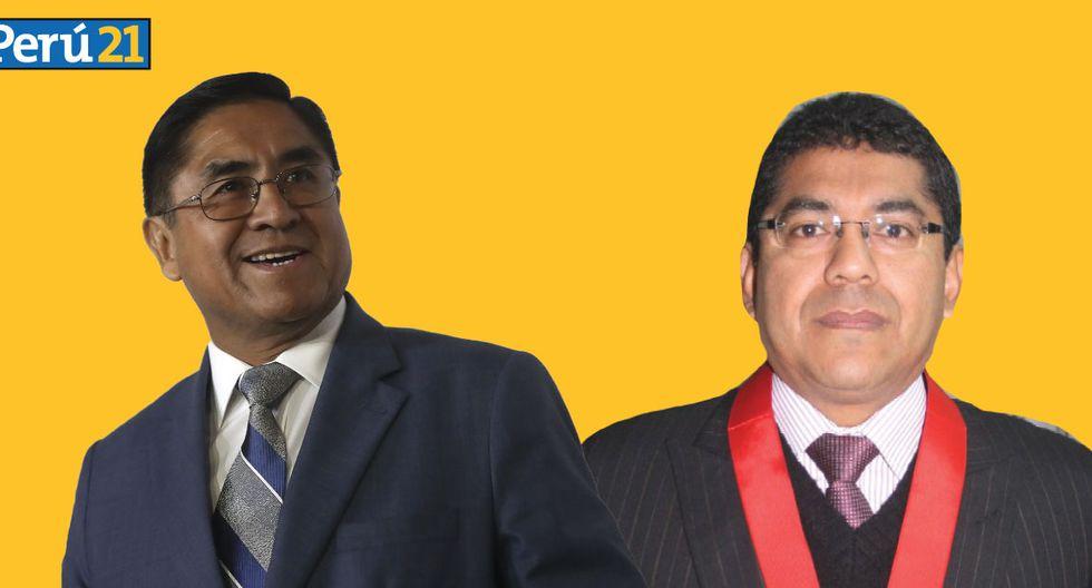 Martín Hurtado le confirma lealtad a César Hinostroza para elecciones internas del Poder Judicial. (Composición / Perú21)