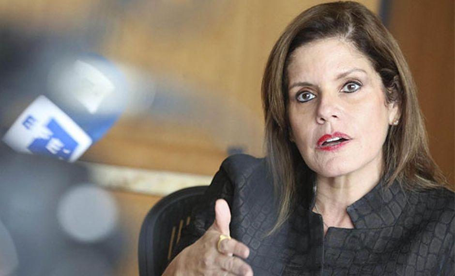 """Mercedes Araoz pidió consenso para elaborar una """"agenda objetiva"""" en el Congreso. (Foto: EFE)"""