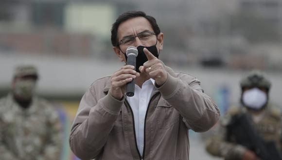 El presidente Martín Vizcarra aseguró que se debe seguir luchando contra el COVID-19. (Foto: Renzo Salazar / @photo.gec)