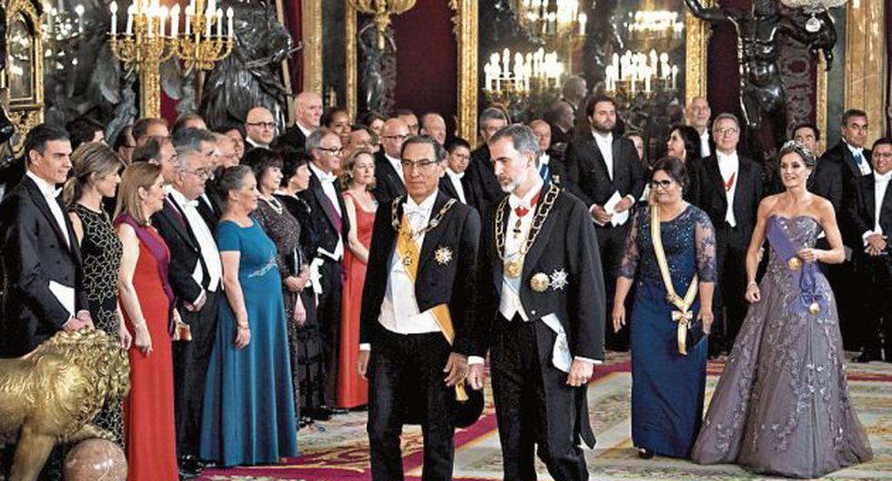 Vizcarra se reunió ayer con el rey de España, Felipe VI.