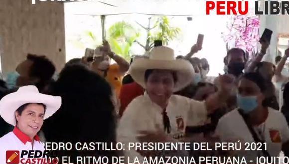 El dueño de Perú Libre,  Vladimir Cerrón, difundió video donde el candidato es mostrado en evento de campaña celebrando (Facebook de Vladimir Cerrón).