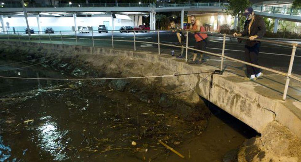 Residentes de Hawái observan los estragos de tsunami. (AP)